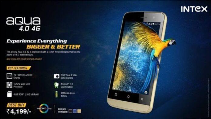 Intex Aqua 4.0 4G Photo