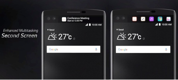 LG V10 Second Screen