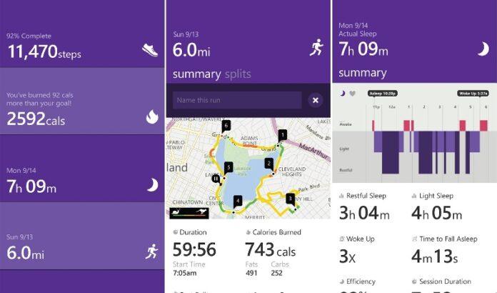 Microsoft Band Health Sync App