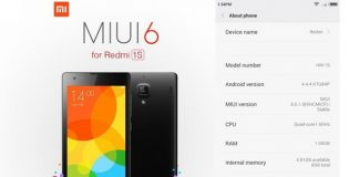 Redmi 1s MIUI 6 Stable