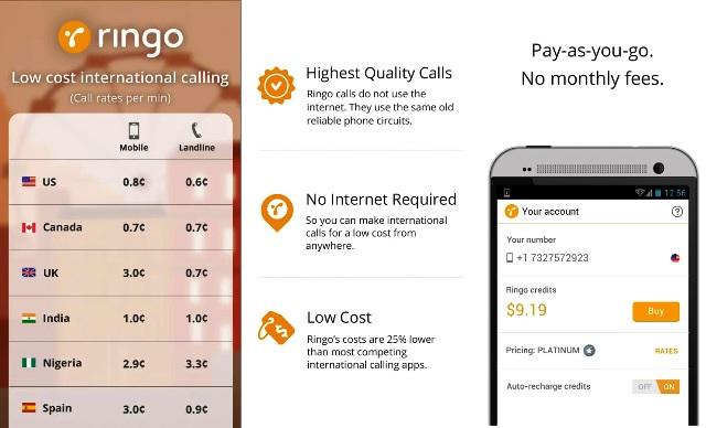 Ringo International Calling App