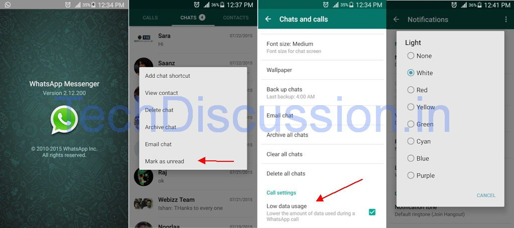WhatsApp Mark Unread Feature