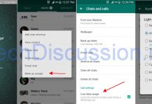 WhatsApp Mark Unread Feature