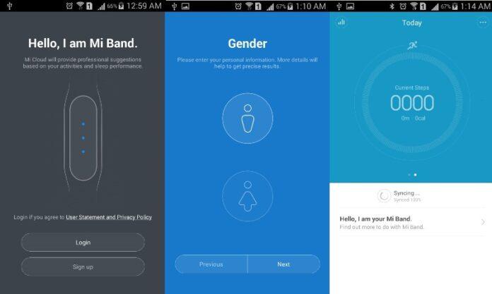 Xiaomi MiBand App